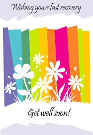 Free Greeting Card Printables Get Well Card Free Printable Fast Recovery Flowers
