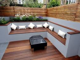 Small Picture The modern wooden garden bench fits any garden situation Garden