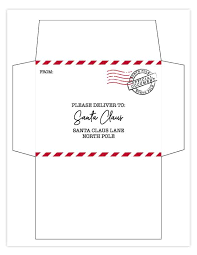 To make those santa letters more official we ve included below a matching set free printable santa envelopes 25. Free Printable Letter To Santa With Matching Printable Envelope