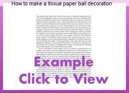 How To Make Tissue Paper Balls Decorations How to make a tissue paper ball decoration College paper Service 89