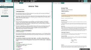 template for submissions to journal submit to peerj directly from writelatex overleaf blog