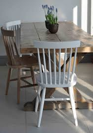 spindle back dining chair white painted or natural oak loading