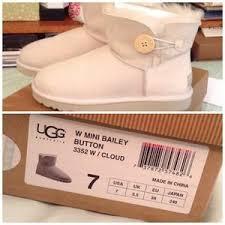 UGG Shoes - Women s Mini Bailey button ugg- Cloud