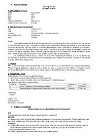 Employee Incident Report Sample And Incident Report Form Pdf ...