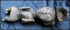 <b>FREE Shipping</b> $80.04 Antique Primitive African <b>Tribal</b> Art, Wood ...