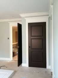 white frame dark door