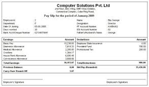 Payment Slip Format In Word Inspiration Salary Net Salary Gross Salary Cost To Company What Is The