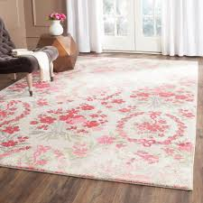 4 x 7 area rug lovely safavieh monaco ivory pink ft 5 in mnc205r