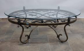 Iron And Glass Coffee Table Coffee Table Wrought Iron Glass Coffee Table Home Interior Design