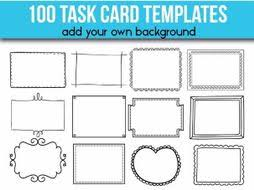 Flashcard Template 100 Task Card Templates Editable Flash Card Templates By