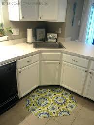 corner kitchen sink rugs breathtaking floor for your house idea small green mats under white in kitchen sink rug