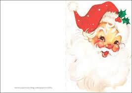 Vintage Santa Claus Card Template Free Printable
