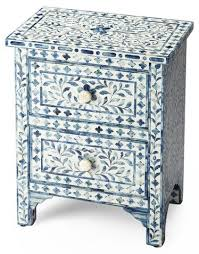 bone inlay nightstand.  Bone Layla BoneInlay Nightstand Blue  Nightstands Bedroom Furniture  One  Kings Lane With Bone Inlay Nightstand