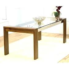 dining table glass top wood base glass table with wood base glass table pedestal tables great