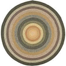 decoration blue circle area rug dark brown round light grey