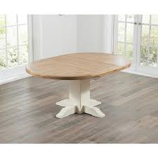 mark harris turin oak and cream dining table 125cm round extending