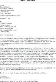 A Customer Service Cover Letter Cover Letter Examples Customer