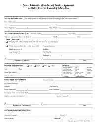 Used Car Sale Agreement Template Sample Vehicle Bill Sale Or Used Car Contract Template Auto