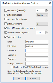 Map LDAP Users to a Settings Template