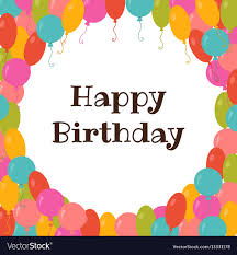 Templates For Birthday Cards Happy Birthday Card Template With Colorful