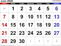 Image result for june 2020 calendar