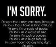 im sorry i mess everything up