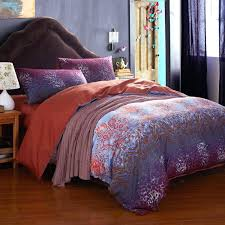 boho bed sets purple gypsy comforter with high quality style sheets