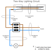 two way lighting circuit wiring sparkyfacts co uk two way lighting circuit