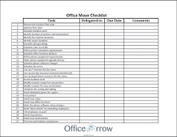 Move Checklist Template Teenage Budget Template Moving Office Excel Companiesuk Co