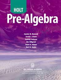 pre algebra holt