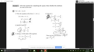 section 3 3 part 1 finding complex solutions of quadratic equations