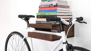 elegant wooden shelf Bike Storage Ideas: 30 Creative Ways of Storing Bike  Inside your Home