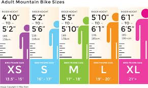 Diamondback Women S Bike Size Chart Mountain Bike Sizing Chart Mountain Bikes For Sale