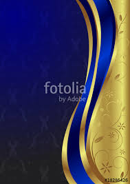 Blue And Gold Design