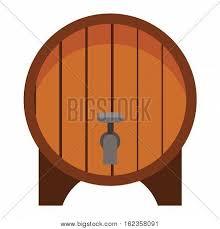 storage oak wine barrels. Wooden Oak Barrel Isolated On White Background. Beer Old Wood Drink Container Vintage Keg. Storage Wine Barrels