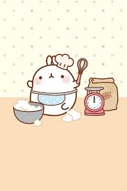cute cooking wallpaper. Interesting Cute Molang Cooking With Cute Wallpaper