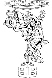 Transformers Bumblebee Coloring Page Transformer Coloring Pages