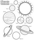 Планеты картинки раскраски