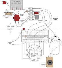 vacuum tube audio amplifier discrete semiconductor circuits illustration
