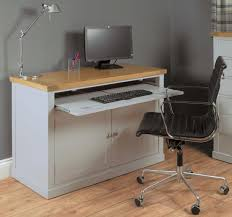 hidden home office furniture. chadwick grey painted hidden home office desk furniture i