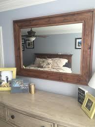 rustic wood mirror frame. Wooden Framed Mirror Rustic Wood Mirror Frame R