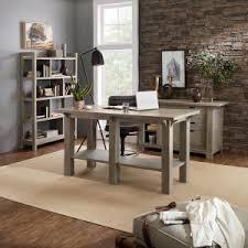 Long desks for home office Wood Craftsman Home Office Birtan Sogutma Home Office Desks Hayneedle