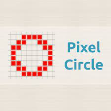 White lines on a color. Pixel Circle Oval Generator Minecraft Donat Studios
