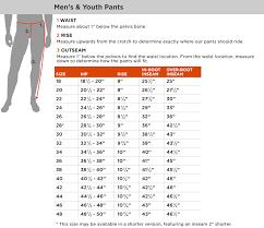 68 Interpretive Pant Length Chart Men