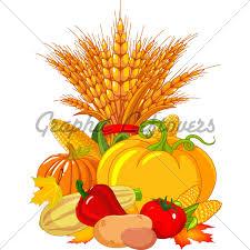 Thanksgiving Harvest Design Gl Stock Images