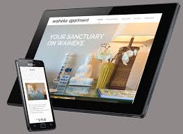 apartment website design. Stunning Desktop And Mobile Website For A Beautiful Apartment Rental On Waiheke Island. Design