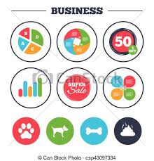 Chart Dog Graph Pets Icons Dog Paw And Feces Signs