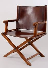french napoleonic cherrywood and leather campaign chair
