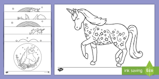 Disney characters, unicorn cake coloring pages for kids. Printable Unicorn Colouring Pages Teacher Made