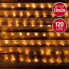 Outdoor Net Lights Warm White Warm White 120 Led Indoor Or Outdoor Net Lights 1 5 X 2m 8 Modes Great For Outdoor Christmas Party Decoration